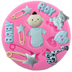 Baby Shower Silicone Fondant Mold