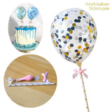 5 inch Confetti Balloon Cake Toppers