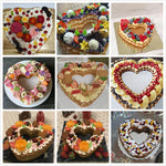 Heart Shape Cake Plastic Mold