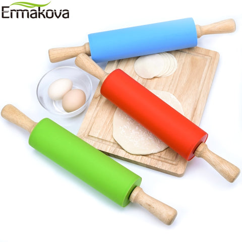 Rolling Pin with Wooden Handle Dough Roller