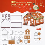 Gingerbread House Stainless Steel Cookie Cutters