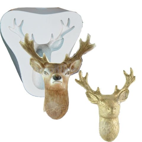 3D Stag's Head Christmas Mold