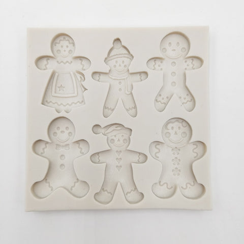 Gingerbread Christmas Silicone Mold