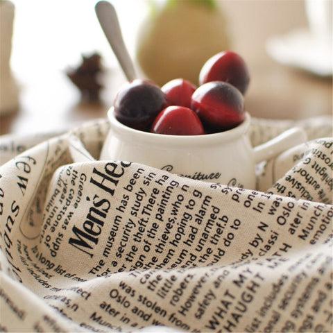 English Newspaper Style Napkin