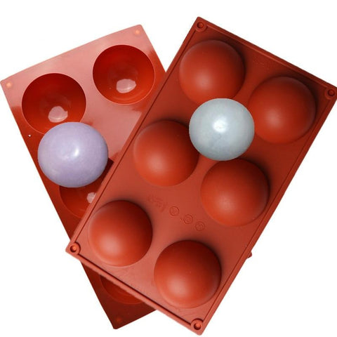 6 Holes Semi-hemispherical Silicone Mold