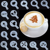 16 Pcs Christmas Coffee Milk Stencil