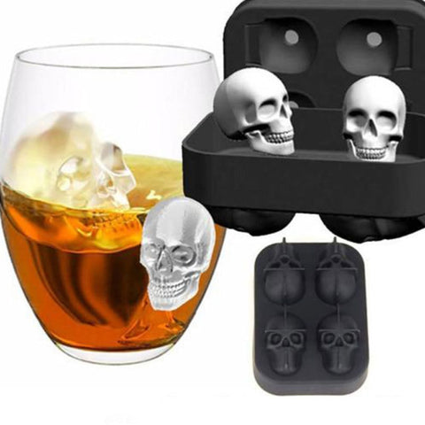 Halloween Party Silicone 3D Ice Cube Skull Shape