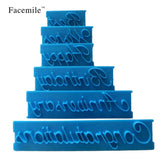 6pcs DIY Mold Decor Alphabet