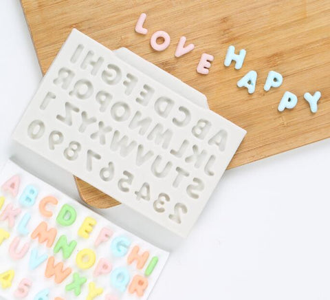 Alphabet Letters Silicone Mold