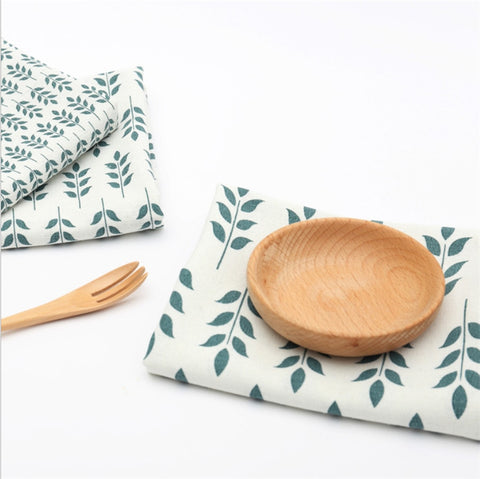 Leaf Design Tea Towel Napkins