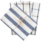 10 Pcs Striped Towel Napkin