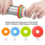 Rolling Pin with Thickness Rings Scale