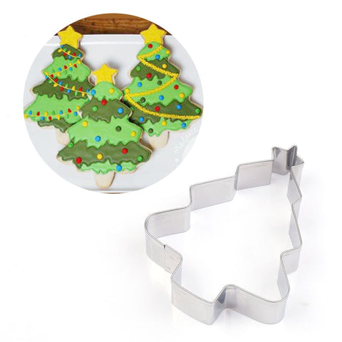 Star Christmas Tree & Christmas House Cookie Cutter