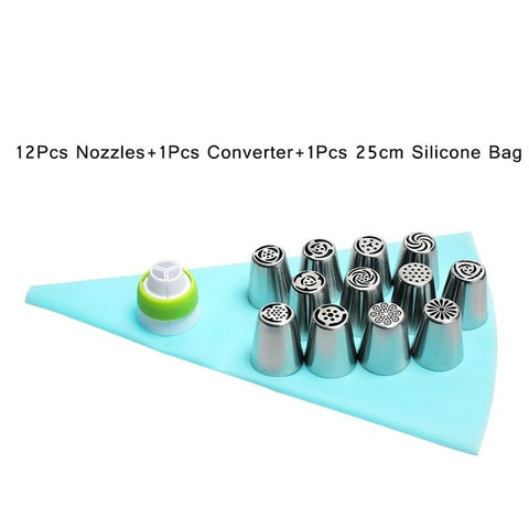 Russian Tulip Icing Piping Nozzles 14pc/Set