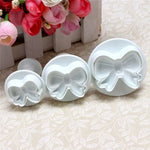 3Pcs/set Bow Knot Embossed Stamp