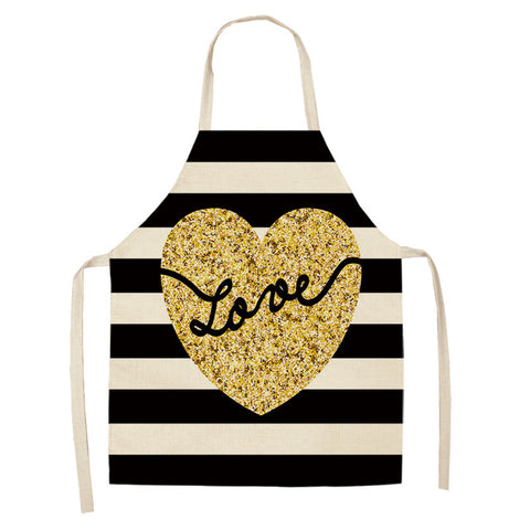 Love Print Kitchen Apron