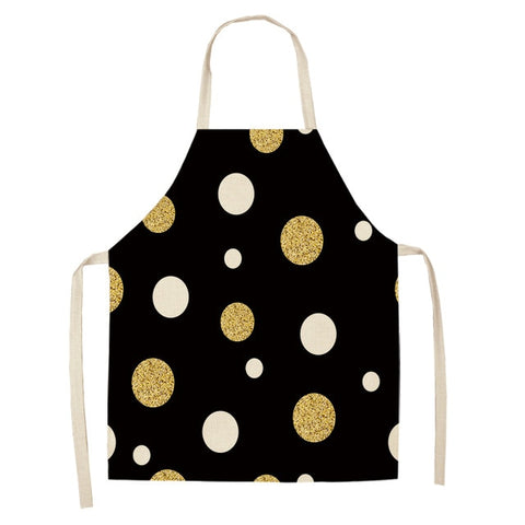 Golden Dots Kitchen Apron