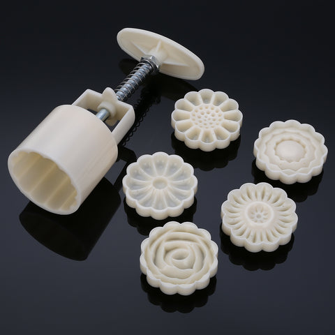 3D Flower Mooncake Mold 6 Set