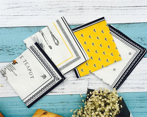 European-Style Cotton Kitchen Napkins