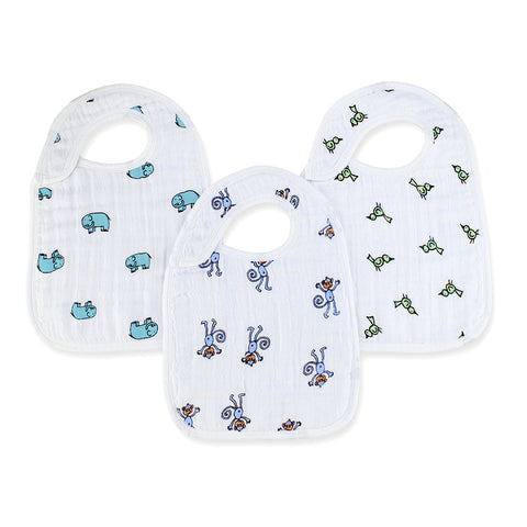 jungle jam 3-packclassic snap bibs