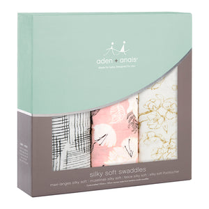 pretty petals 3-pack silky soft swaddles
