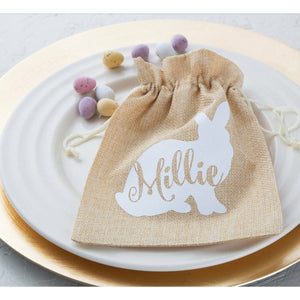 Easter Jute Bag White