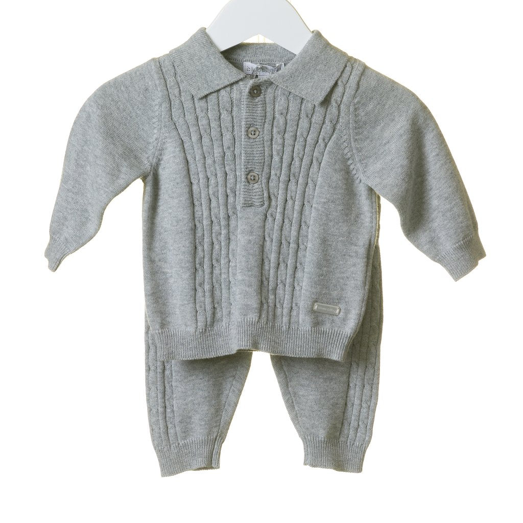 GREY KNITTED 2 PC SET