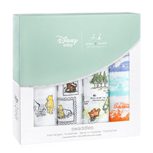 Load image into Gallery viewer, Winnie The Pooh 4-pack Disney baby classic swaddles