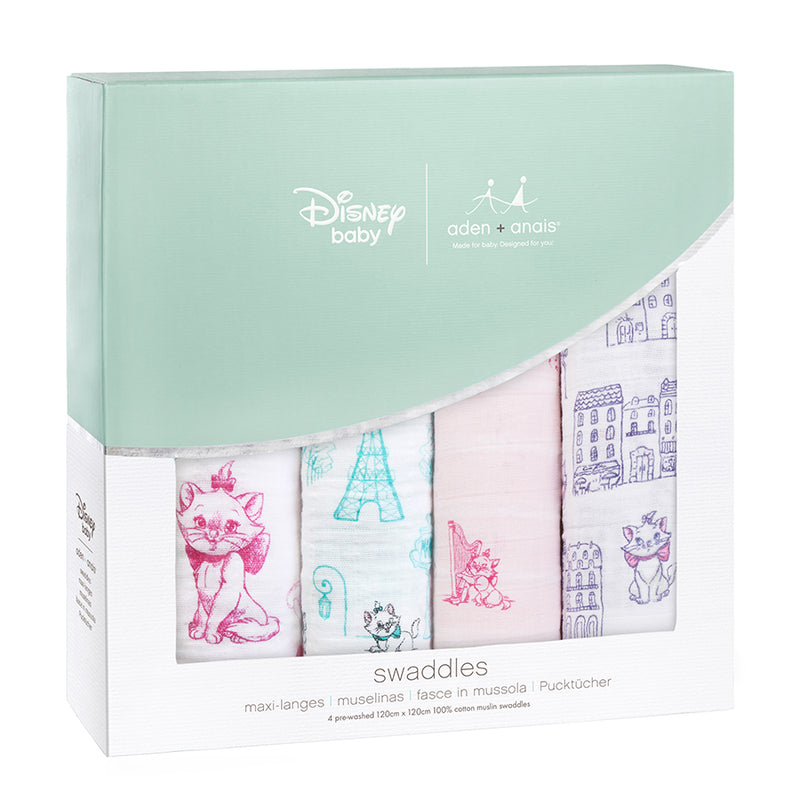 The Aristocats 4-pack Disney baby classic swaddles