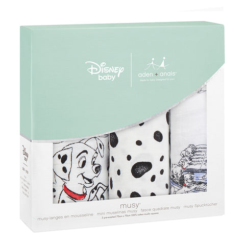 101 Dalmations 3 Pack Disney Baby muslin squares