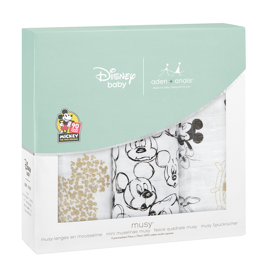 Mickey's 90th 3-pack Disney baby muslin squares