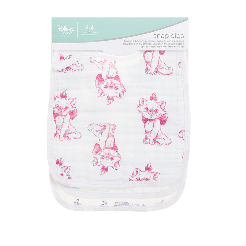 The Aristocats 3-pack Disney baby snap bibs