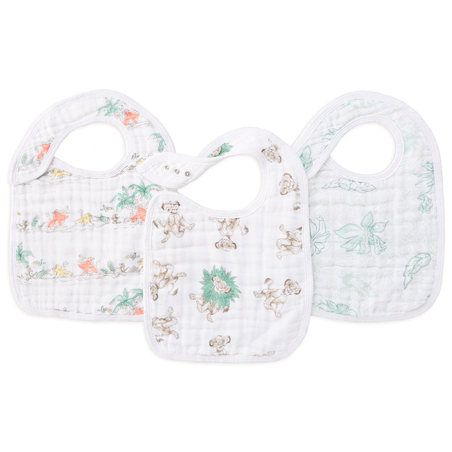 The Lion King 3-pack Disney Baby snap bibs