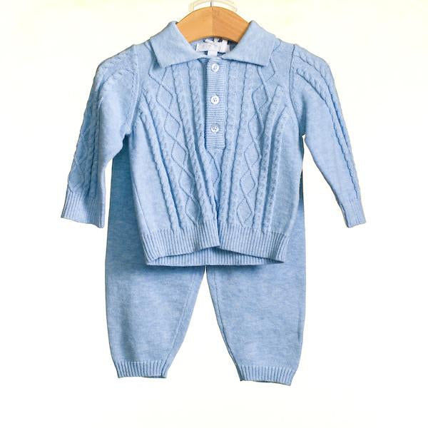 Baby Boys 2 Pc Knitted Jumper And Trouser Set