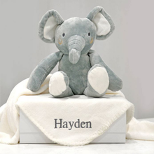 Load image into Gallery viewer, Personalised Blanket And Elephant Toy