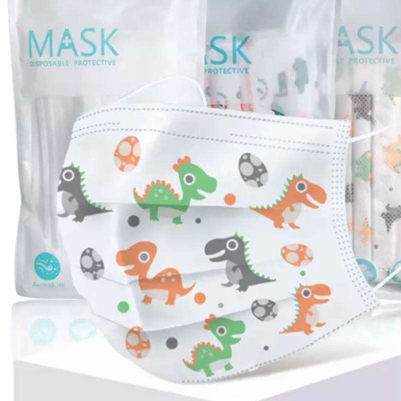 Childrens Protective Face Mask 10 Pack – Dinosaur