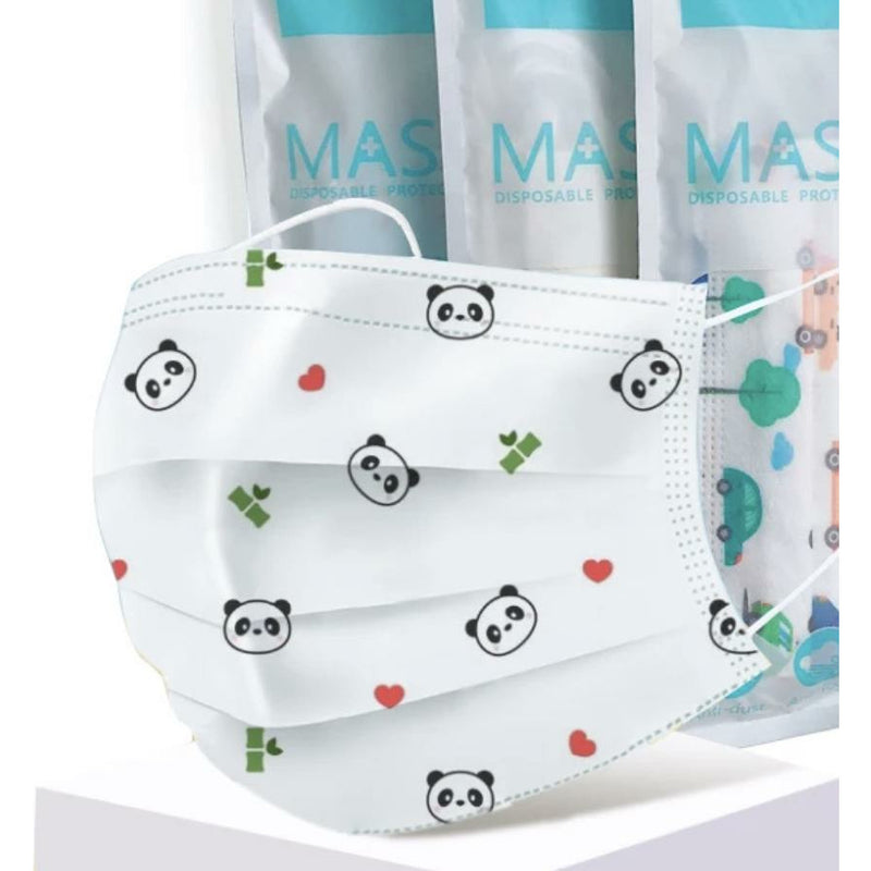 Childrens Protective Face Mask 10 Pack- Panda Unisex