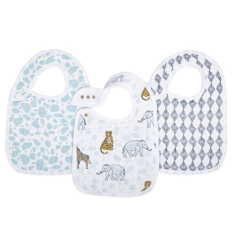 Aden and Anais Jungle 3- pack classic snap bibs
