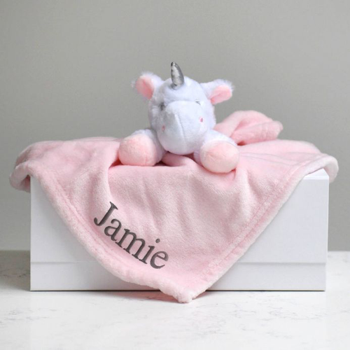 Personalised Unicorn Baby Comforter