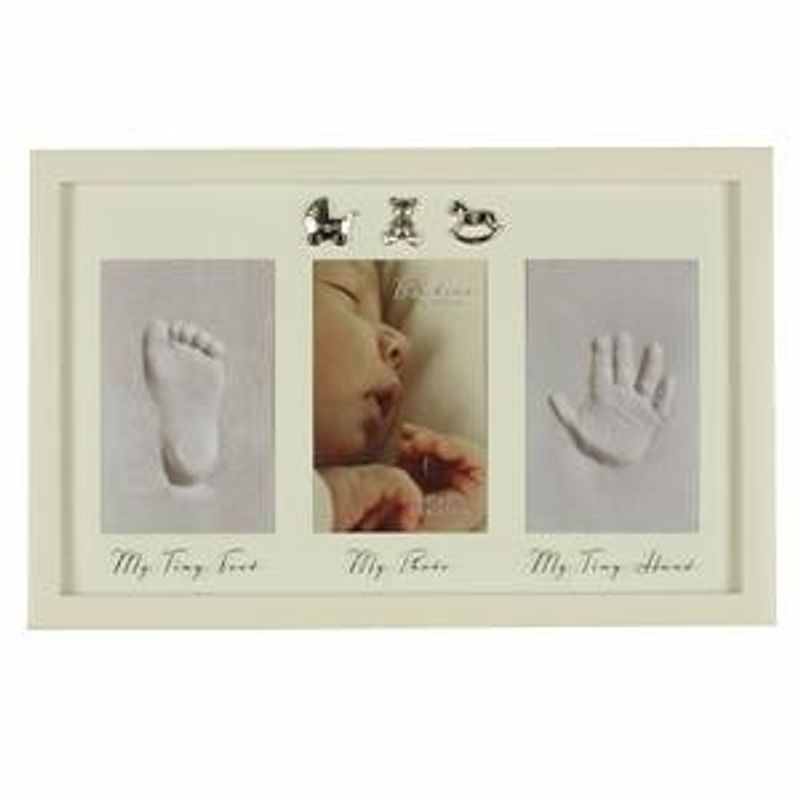 Foot Print & Frame with 3 sliver charms