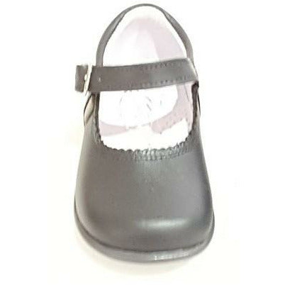 Baby Mary Janes in leather Bambi grey 457