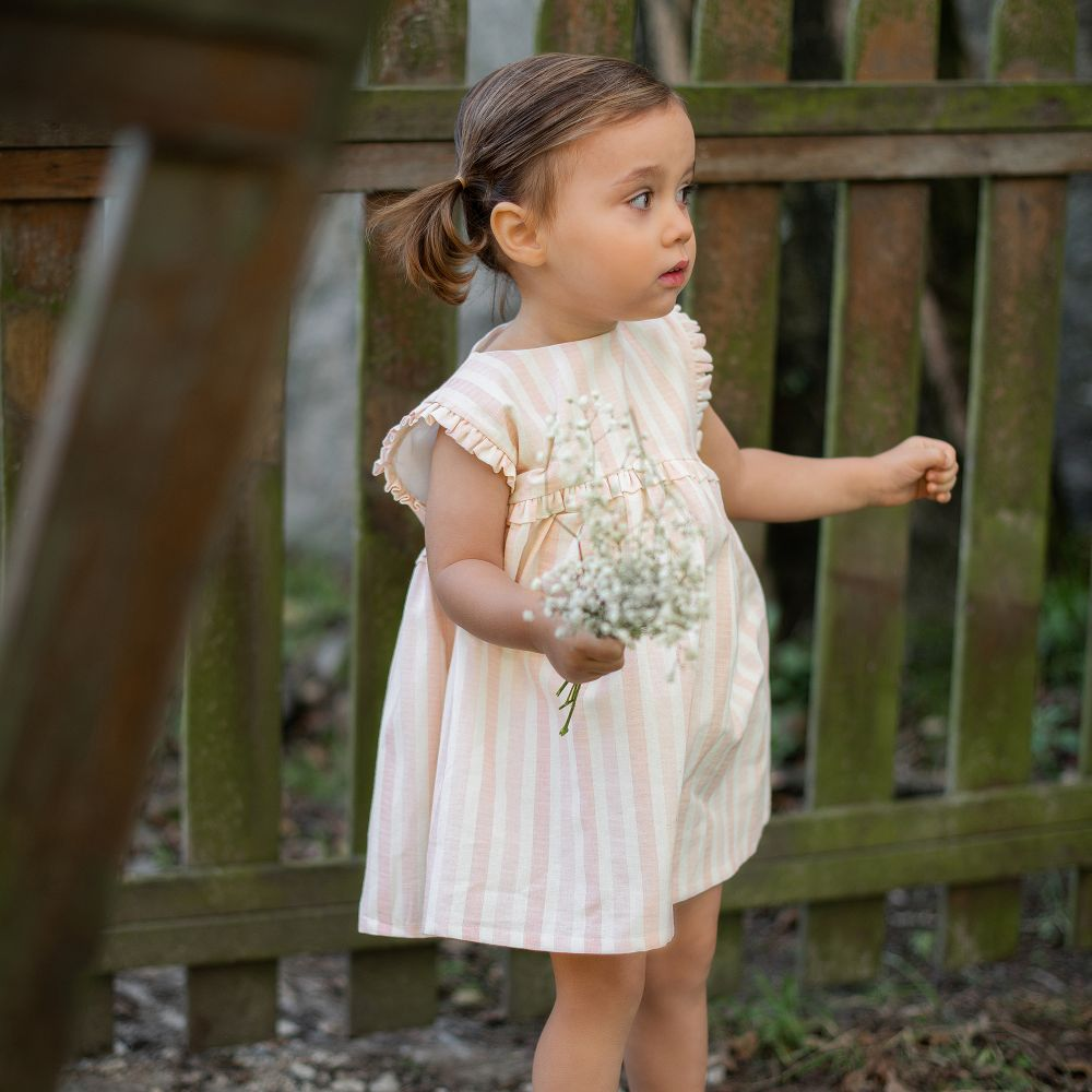 Wedoble Pink & Ivory Cotton Dress