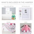 Personalised Blanket, Bunny And Art Baby Hamper