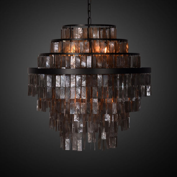 BAYONNE BLACK MOTHER OF PEARL lysekrone fra NOBELIUM LIGHTING