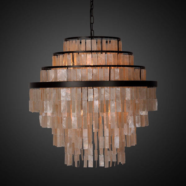 BAYONNE WHITE MOTHER OF PEARL lysekrone fra NOBELIUM LIGHTING