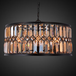 CASTLE AMBER CRYSTAL lysekrone fra NOBELIUM LIGHTING