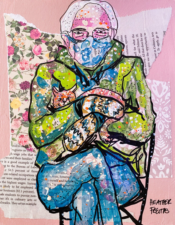 Bernie and Mittens ( Original Painting ) Heather Freitas