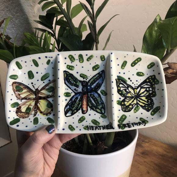 Butterfly- 3 compartment tray Heather Freitas
