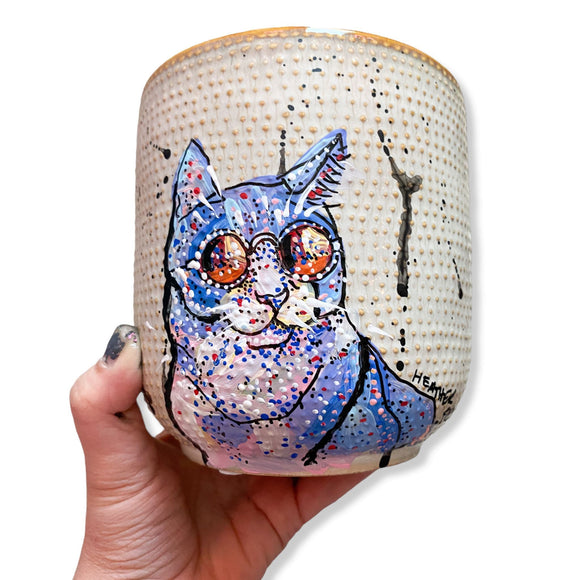 Cool Cat 6.5 inch Planter Pot Heather Freitas