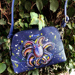 'Deep Dive' - Hand Painted Crossbody purse Heather Freitas